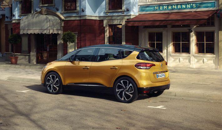 Renault Scénic Geel Two Tone Zijkant Achterkant