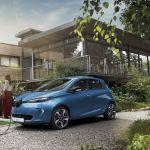 Renault Zoe blauw Opladen