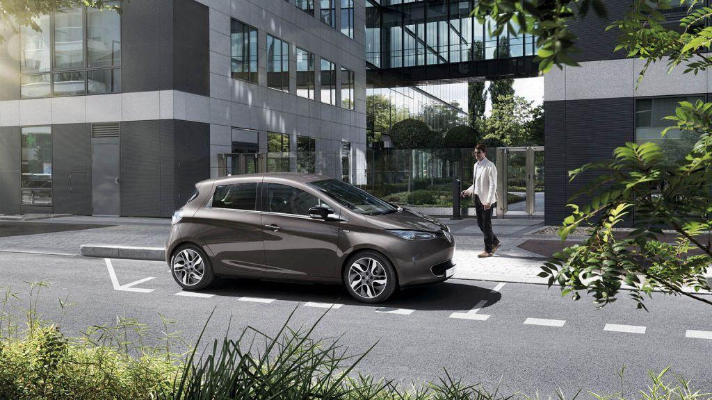 Renault Zoe grijs zakelijk