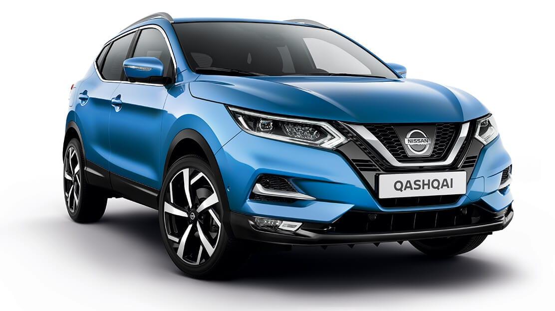 Vooraanzicht van de nieuwe Nissan Qashqai