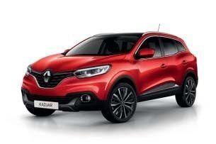 Renault Kadjar in de kleur Rouge Flamme