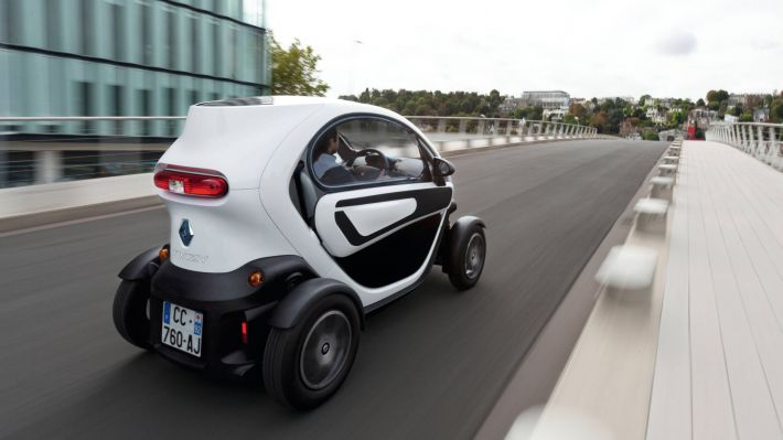 Renault Twizy Onderweg